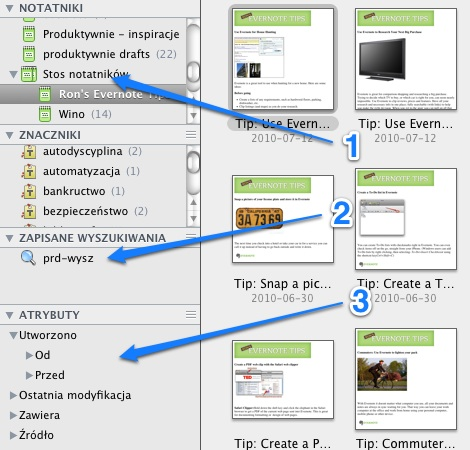 Evernote UI